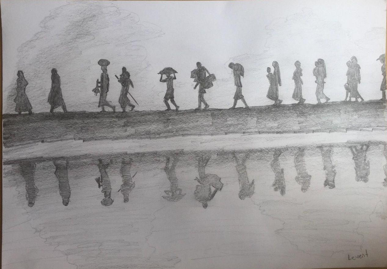 Drawing done by Levent - an asylum seeker from Turkey and a member of Together We Grow